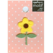 Yellow Flower Design Small Iron-on Applique