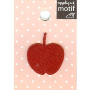 Red Apple Design Small Iron-on Applique