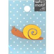 Snail Design Small Iron-on Applique