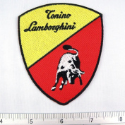 Bull Sport Tonino Lamborghini Italian Iron on Patch Embroidered Racing DIY T-shirt Jacket 7.6cm x 8.9cm