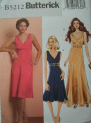 MISSES DRESS DAY OR EVENING SIZE 8-10-12-14 EASY BUTTERICK PATTERN B5212