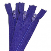 18cm Zipper TALON Nylon Coil Zippers ~ Closed Bottom ~ 069 PURPLE