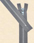 28cm Pants Aluminium Zipper ~ Talon #4.5 with Locking Slider - Rail Grey