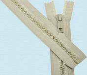 48cm Jacket Zipper ~ Vislon Zipper ~ Talon #5 Moulded Plastic ~ Separating - 713 Bamboo Beige
