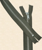 30cm Pants Aluminium Zipper ~ Talon #4.5 with Locking Slider - Dark Green