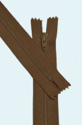 23cm Zipper Talon #3 Skirt & Dress Closed Bottom ~ Spice Brown