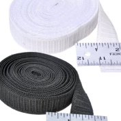 Elastic ~ Non-roll Elastic 2.5cm ~ Black ~ By Yard