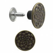 Springfield Leather Company Antique Brass Plated Jean Button