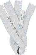 SALE 18cm VISLON ZIPPER ~ YKK #5 Moulded Plastic ~ Closed End - K119 Steel Grey
