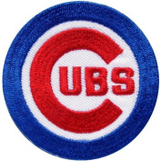 MLB12-MLB BASEBALL CHICAGO CUBS SPORT Iron On Patch Size 3x3 Inches,7.5x7.5 Cm