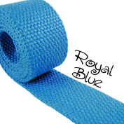 1 Yard Cotton Webbing - 3.2cm Medium Heavy Weight - Royal Blue