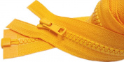 Sale 80cm Sport Separating Zipper Colour 507 Orange Yellow - Medium Weight (Special) Vislon Jacket YKK #5 Moulded Plastic