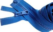 Sale 60cm Vislon Zipper Jacket YKK #5 Moulded Plastic Separating Colour 549 Grotto Blue (1 Zipper/pack).