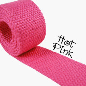 1 Yard Cotton Webbing - 3.2cm Medium Heavy Weight - Hot Pink