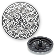 Metal Button with Shank 1.7cm Black/White, BEA-21048