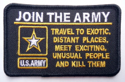 JOIN THE ARMY Funny Vet Military Quality Biker Patch!!!