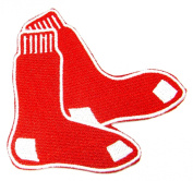 NEW Boston Red Sox 7.6cm SOCKS Iron on Sew Applique Embroidered patches