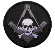 Freemasonry Biker Masonic Widows Sons Skull Square Compass embroidered Patch D29