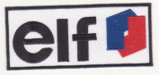 elf OIL & GAS RACING CAR EMBROIDERED IRON ON PATCH T175