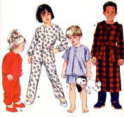 OOP Simplicity Pattern 8493. Childrens/boys/gils Szs 1/2; 1;2 Sleeper; Pyjamas; Robe