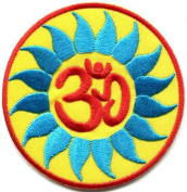 Hindu Aum Om Infinity Hindi Yoga Peace Trance Applique Iron-on Patch New G-9 Best Seller Good Quality From Thailand