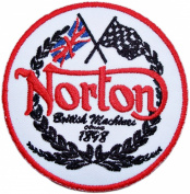 Norton Motorcycles Vintage Bikes Logo T Shirt Clothing BN03 Patches