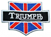 Triumph Motorcycles UK Flag Vintage Bikes Racing Team Jacket BT02 Patches