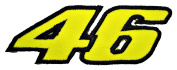 46 The Rossi the Doctor MotoGP Logo t Shirts BR11 Iron on Patches