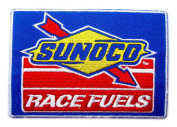 Sunoco Race Fuels NHRA Drag NASCAR Racing Logo Clothing GS13 Iron on Patches
