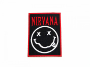 Nirvana (black and red)Logo Iron on patch great gift for Men and Women/Ramakian