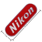 Nikon Camara Logo 1 Embroidered Iron on Patches From Thailand