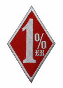 Red 1% er 1 % 1%er 1er Outlaw Chopper Motorcycle Club Gang Biker DIY Applique Embroidered Sew Iron on Patch