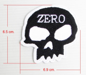 1x Skulls ZERO Embroidered Sew Iron on Patches 1 Pcs.