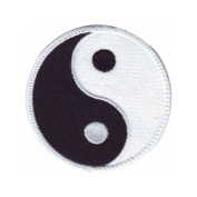 Yin Yang Embroidered Sew on Patch