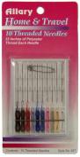 Allary Home & Travel 10 Threaded Needles