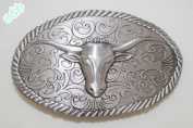 Brand:e & b Western Cattle Skull Bull Horns Belt Buckle Wt-015as