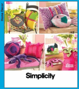 Simplicity Simply Teen Pillows and Bean Bag Animals Sewing Pattern # 3953