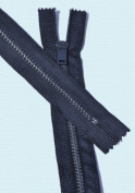 28cm Pants Enamel Aluminium Zipper ~ Talon #4.5 with Locking Slider - Navy Blue