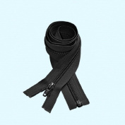 YKK #5 Nylon Coil Separating Zippers - Black 36cm