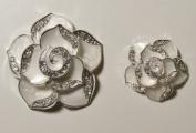 Flatback Camellia Flower Button Set By Pixiheart