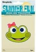 Simplicity Summer Fun Iron on Transfer --New-- Frog