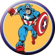 Marvel Captain America Run Button B-5153