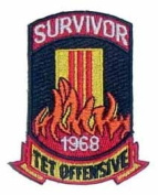 Tet Offensive Survivor Logo Embroidered Iron on or Sew on Patch