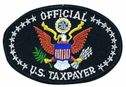 Official Us Taxpayer Logo Embroidered Iron on or Sew on Patch