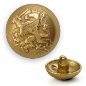 Metal Lion Crest Blazer Button with Shank by each