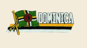 Dominica Logo Embroidered Iron on or Sew on Patch