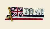 England Logo Embroidered Iron on or Sew on Patch