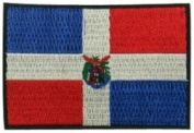 Dominican Republic Flag Logo Embroidered Iron on or Sew on Patch