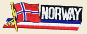 Norway Logo Embroidered Iron on or Sew on Patch