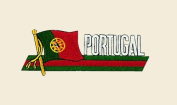Portugal Logo Embroidered Iron on or Sew on Patch